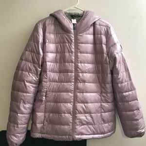 Andrew Marc Reversible Hooded Jacket Puffer Large
